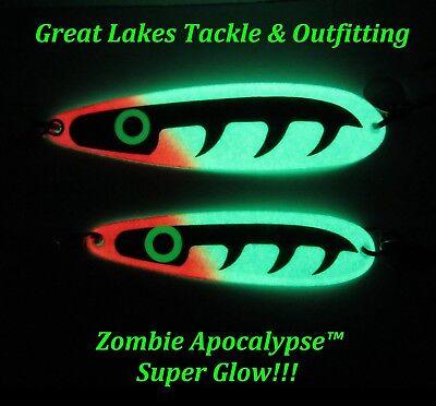 6 Captain/'s Pack - Great Lakes Top Secret Trolling Spoons!!!