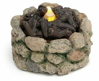 Miniature Fairy Garden Cobblestone Fire Pit w// LED Tealight Buy 3 Save $5