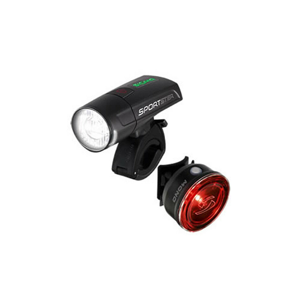 Beleuchtungsset Sigma Sportster Front lámpara USB 40 lux + faro trasero LED mono RL