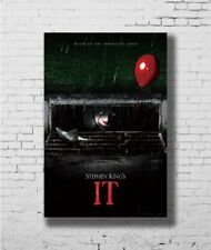 Hot 2017 IT Movie Stephen King Pennywise New Art Poster 40 12x18 24x36 T-2546