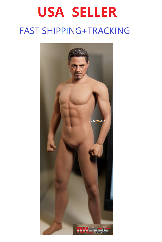 PHICEN M31 1/6 Seamless Male Muscular Body w/ Tony Stark Iron Man Head Sculpt