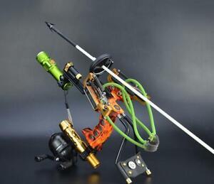 Archery-Arrow-Rest-Slingbow-Fishing-Reel-Steinschleuder-Jagd-Fischen-Katapult-Outdoor