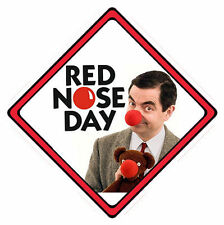 Mr Bean Red Nose Day Car Window Sign (£1 Goes To Comic Relief Charity) ~ 5