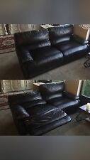 Dark Brown Leather Couch From Macys, Automatic Recliner Lightly Used !