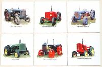 Farm Tractor Ceramic Tile Accents 6 Of 4.25 Kiln Fired Vintage Machinery Sale