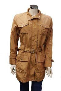 newest e79a3 0bc0d Dettagli su Cappotto impermeabile lungo da donna arancione Feyem casual  moda manica lunga