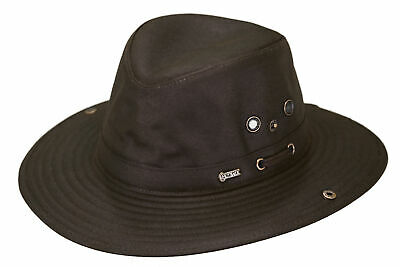 3bcf9de73 Outback Trading River Guide Cowboy Hat Waterproof UPF 40 Cotton Chid Strap  Brown | eBay