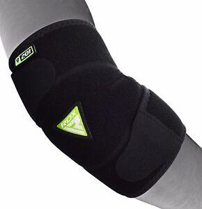 RDX-Elbow-Support-Brace-Guard-Adjustable-Arm-Pads-Straps-MMA-Wrap-Gym-Bandage-US