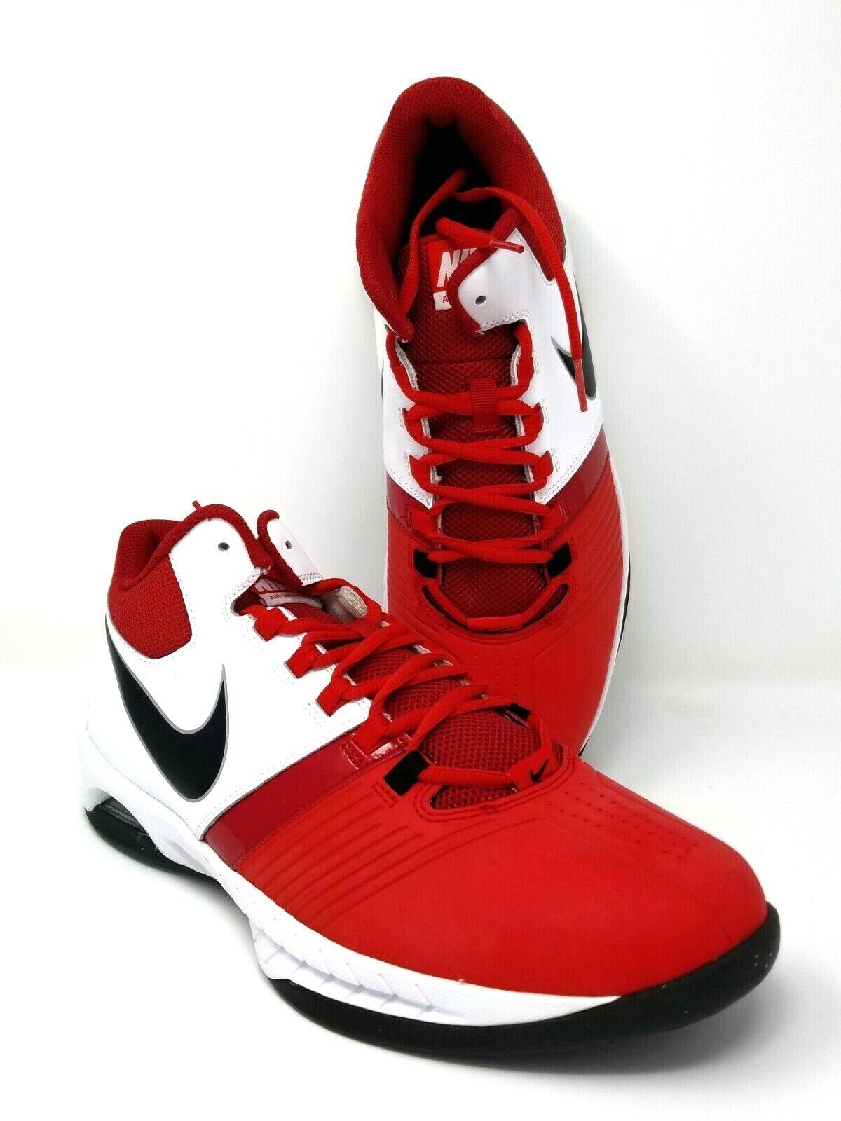 hombres NIKE VISI PRO V Tamaño 12.5 AIR Zapatos De Baloncesto blancoo Rojo 653656