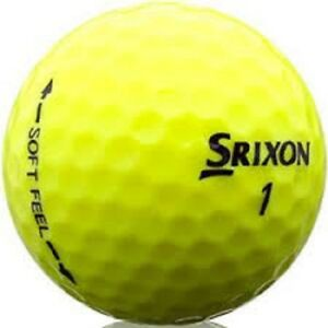 100-Near-Mint-Srixon-Soft-Feel-Yellow-Used-Golf-Balls-4A-Quality