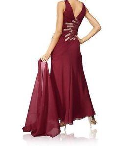 Kleid bordeaux lang rot Langes Kleid