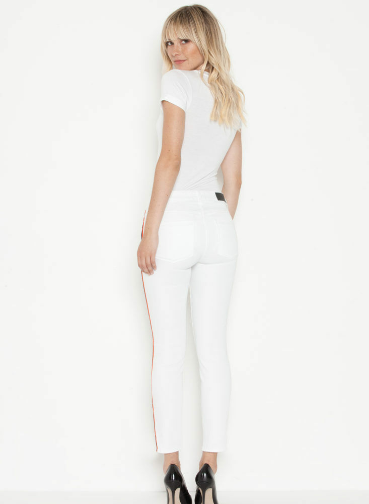 Parker Smith TWISTED SEAM SKINNY IN ETERNAL WHITE NEW Women's SZ SZ 27 USA