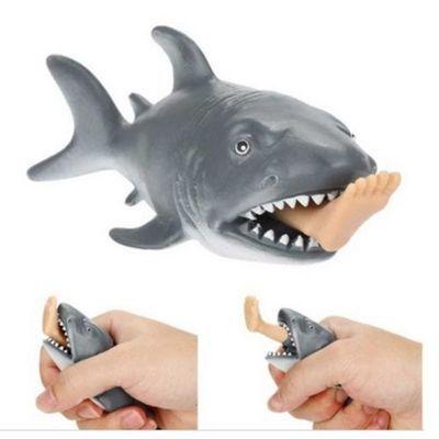 Creative Funny Toy Squeeze Stress Ball Alternative Humorous Shark Eat Human E2N7