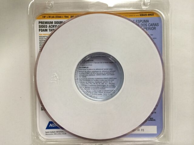 Norton Premium Double Sided Acrylic Foam Tape 7/8