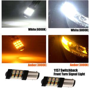 2PC-1157-30W-Switchback-LED-Front-Turn-Signal-Light-for-Subaru-WRX-STI-Impreza
