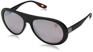 6cb4877b70 Image is loading RAY-BAN-SCUDERIA-FERRARI-SUNGLASSES-BLACK-POLARIZED-SILVER-