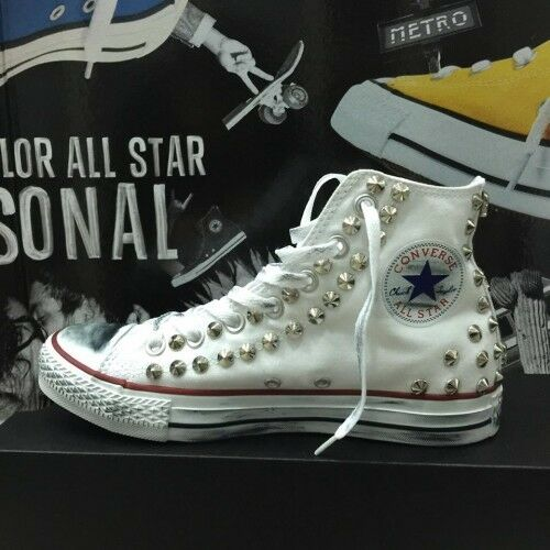 Converse All Star Malaga [Product Customized] Shoes Studded ORIGINAL 100%