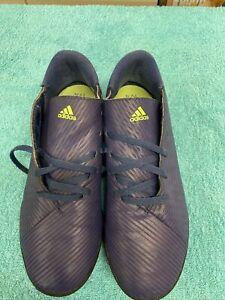Adidas Boys Astro Turf Messi Football Boots size UK 5.5 EU 38.5 Blue/Green Used