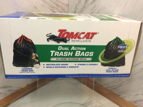 Tomcat 049192505 Rodent Repellent Dual Action Trash Bag,33 Gallon 25 ct QTY 2