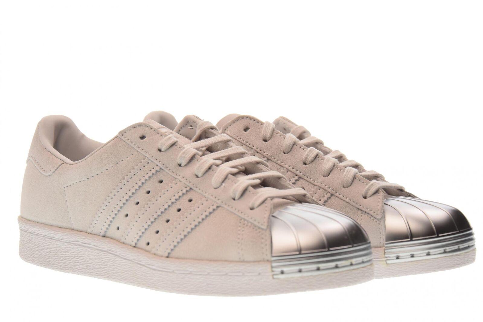 Silver Adidas Women Shoes Cp9945 Originals Grey Superstar 38 Metal W Toe Suede 80s HbWD9Ye2EI