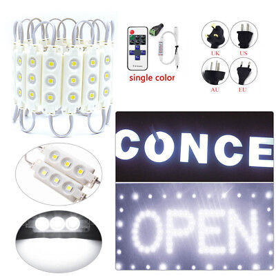 Power+Remote+SMD5050 White Injection 3 LED Module Window Store Front Lights IP67
