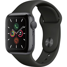 Apple Watch Series 5 GPS 40mm Space Gray Black Sport Band MWV82LL/A