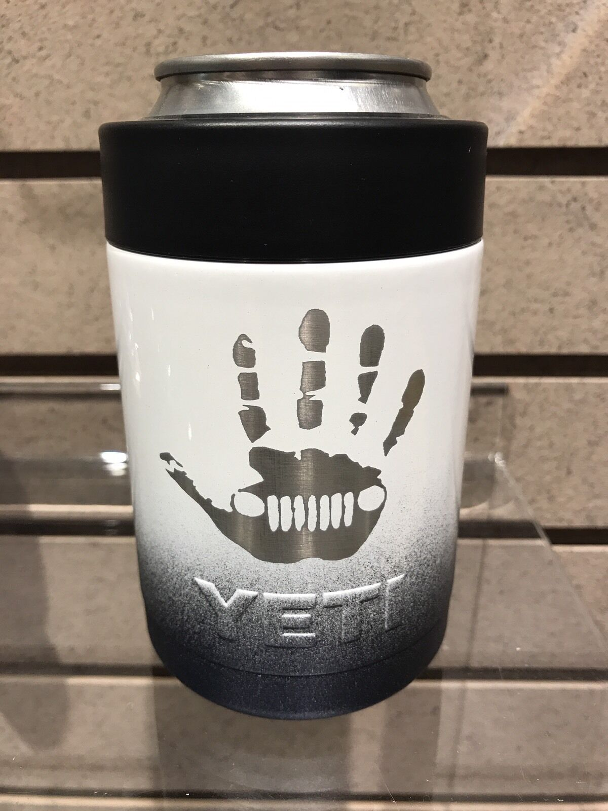 Jeep Hand Lazer Engraved Powder  Coated Yeti Coalster  low prices