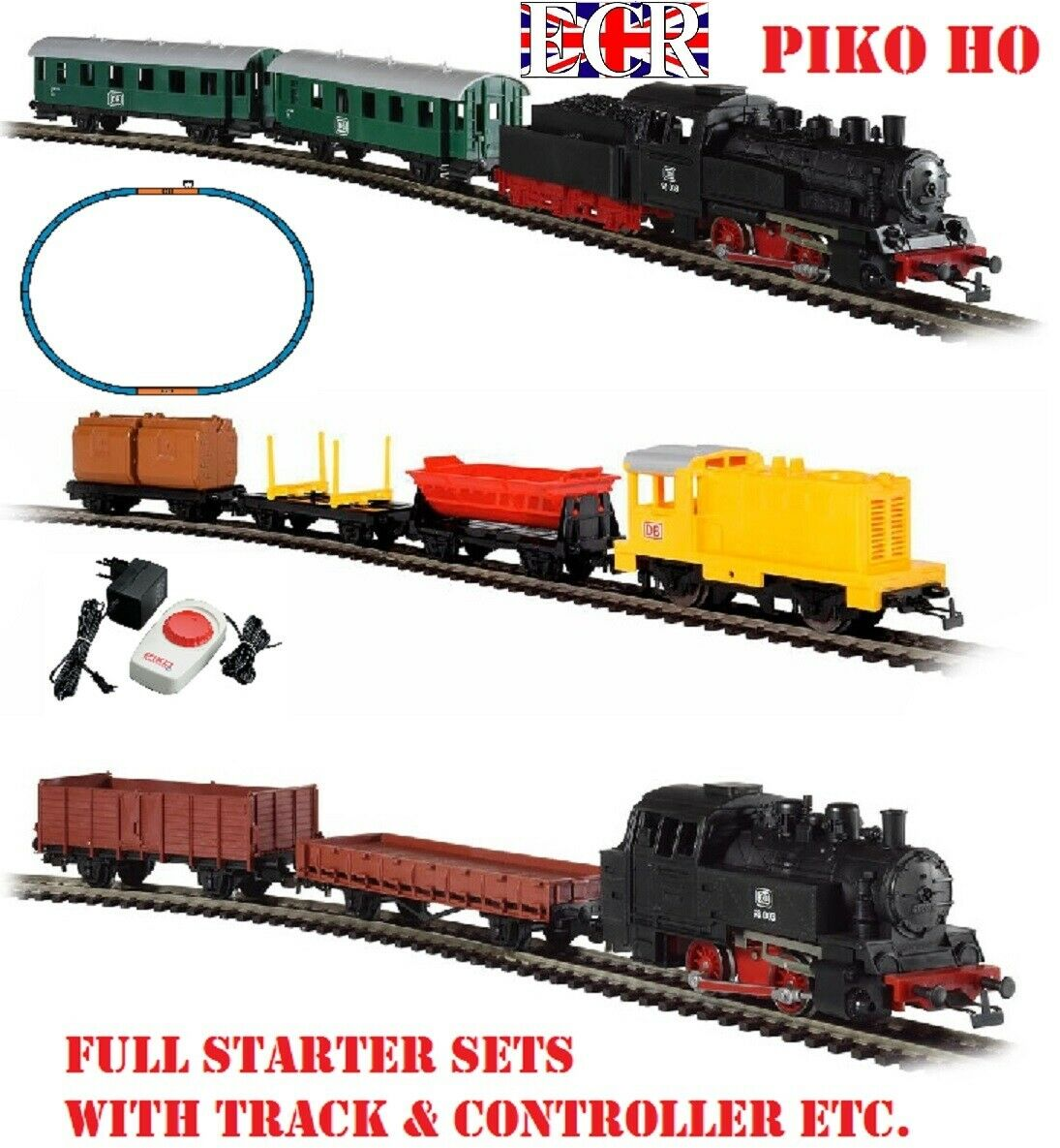 NEW PIKO HO GAUGE EstrellaTER KIDS SET XMAS SCALE TRAIN PASSENGER & RAILWAY FREIGHT