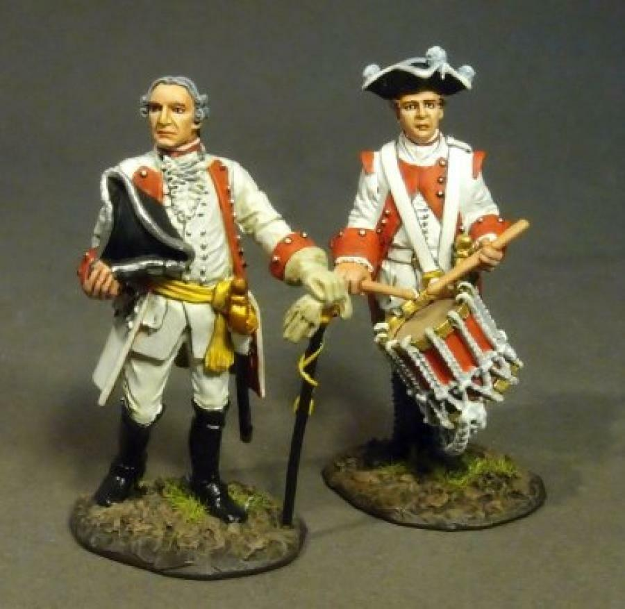 JOHN JENKINS SEVEN YEARS WAR 1757 red-10 red-10 redH WURZBURG INF OFFICER & DRUMMER MIB