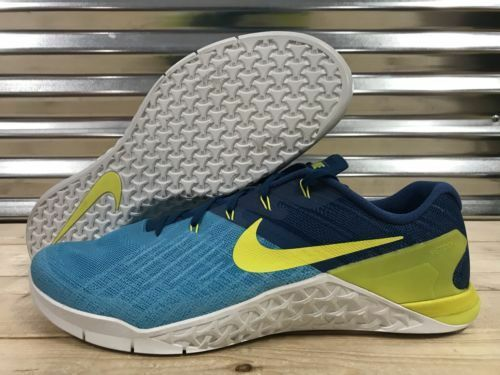 Mens Nike Metcon 3 Shoes Size 9 Crossfit Training Shoes 3 Blue 852928-401 9 f60d12
