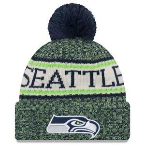 da9cc6adee9897 Seattle Seahawks NFL New Era On Field Official Sideline Beanie | eBay