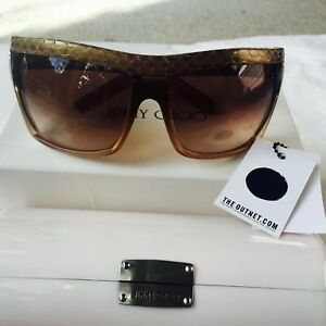 Jimmy-Choo-brown-Snake-Skin-sunglasses