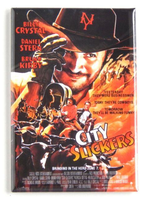 City Slickers Kühlschrank-magnet (6.3x8.9cm) Filmposter Billy Crystal