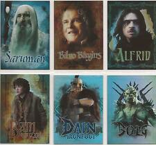 "The Hobbit Five Armies - ""Character Biography"" Set of 6 Chase Cards #CB29-CB34"