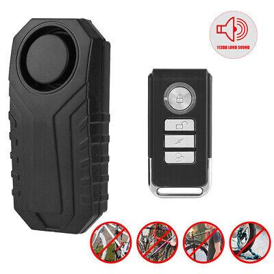 Warning Security Lock Remote Control Wireless Bike Anti-theft Loud 6 Sound Alarm