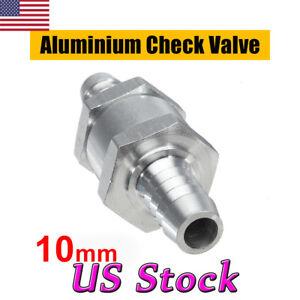 "2PCS 10mm Aluminium Fuel Line One Way Non Return Check Valve Petrol Diesel 3//8/"""