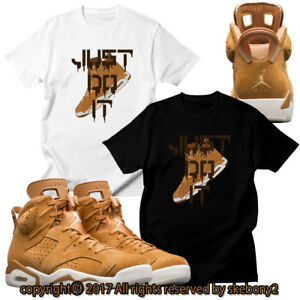 021e3838538 NEW CUSTOM T SHIRT Air Jordan 6 WHEAT matching TEE JD 6-3-19   eBay