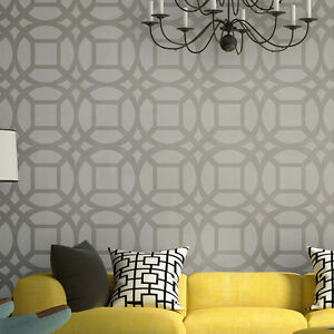 Image is loading Wall-Moroccan-Stencils-Large-Lesley-stencil-for-DIY-