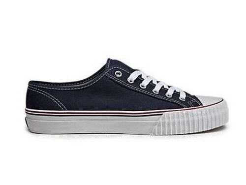 New PF Flyers Center Lo Reissue Unisex Casual Shoes Navy/White Canvas MC1002NV HcL free shipping