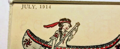Vintage July 1914 Betty McCall Cut Out Game Betty in her Canoe