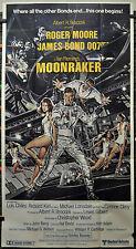 MOONRAKER 1979 ORIG 41X77 3-SHEET MOVIE POSTER ROGER MOORE MICHAEL LONSDALE