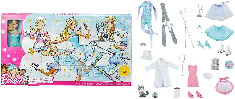 Calendrier Avent Barbie.Mattel Barbie Calendrier De L Avent 2017