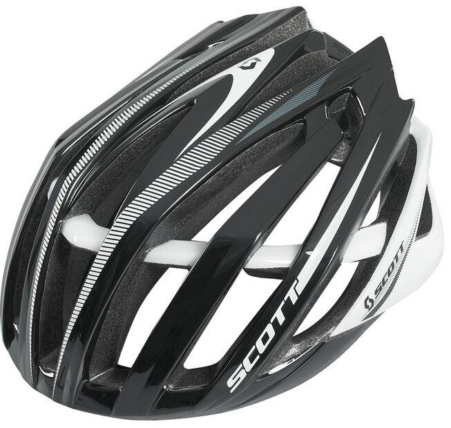 SCOTT casco bici bianco negro helmet bike mtb corsa blancoo negro ciclismo road