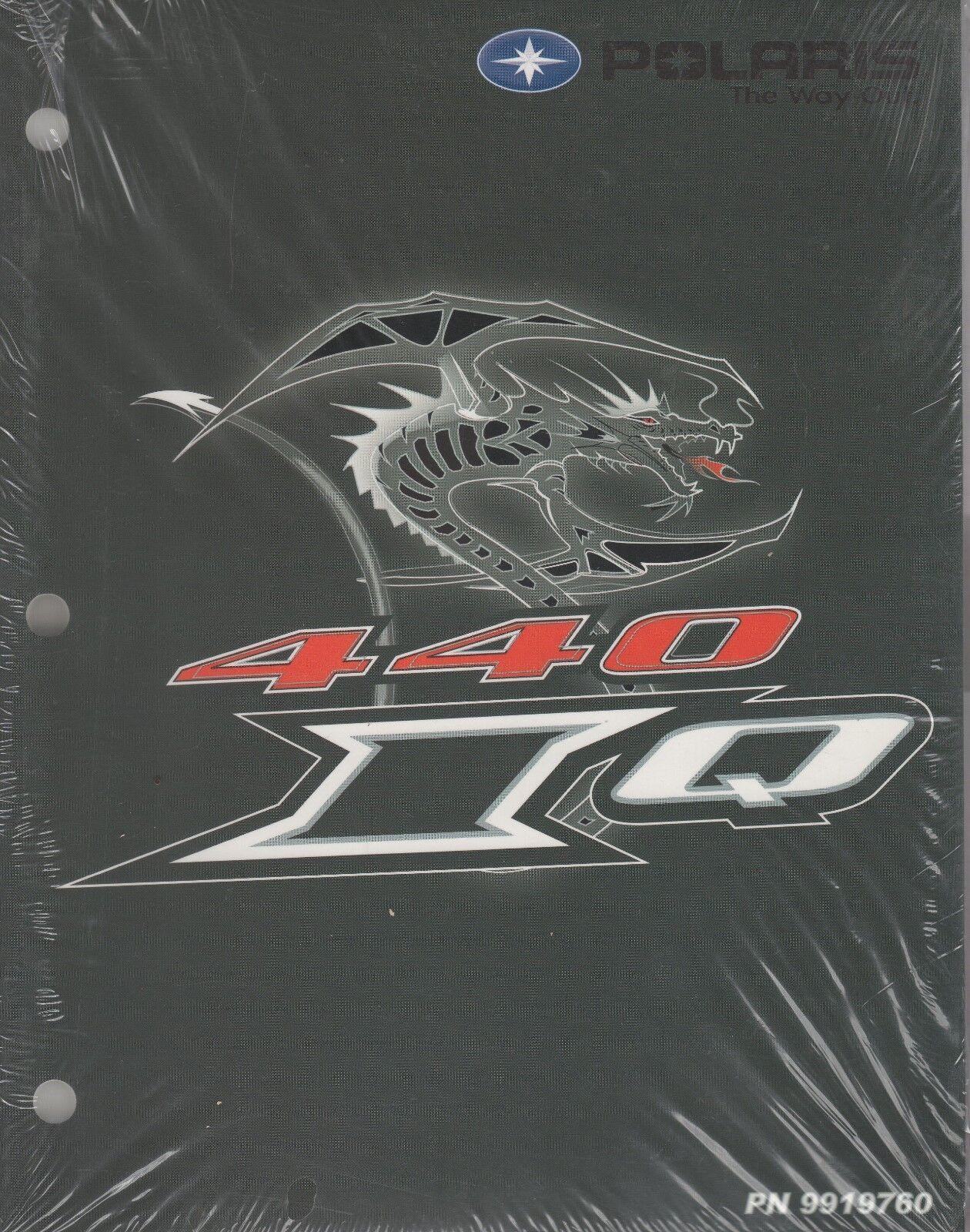 2006 POLARIS 440 IQ SNOWMOBILE SERVICE MANUAL P N 9919760 (961)