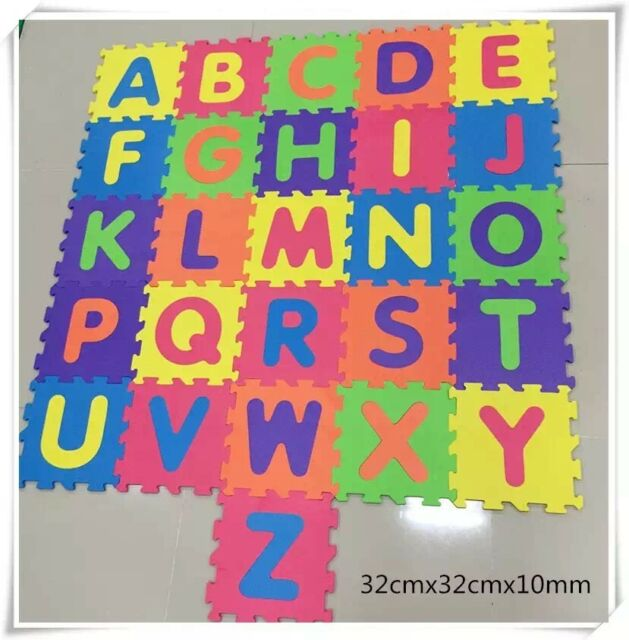 XL LARGE ALPHABET PLAY MAT BABY KIDS SOFT EVA FOAM JIGSAW PUZZLE FLOOR