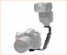 Off Camera Flash Bracket Mount L-Shaped For DSLR UK Seller