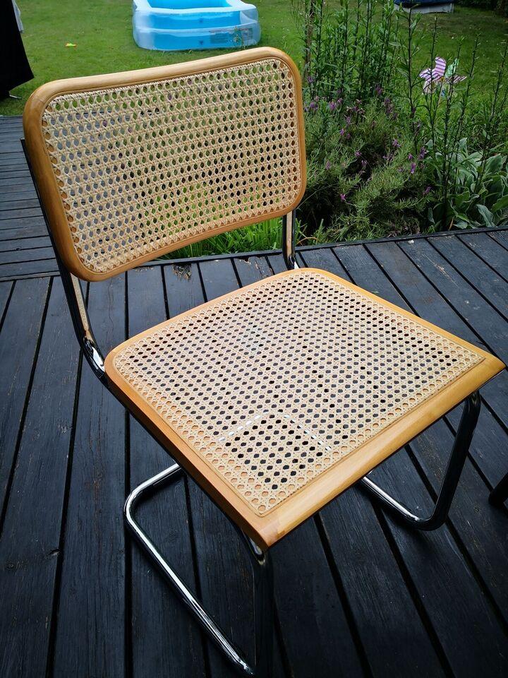 Spisebordsstol, Flet - Stål - Chrome, Frisvinger - Bauhaus