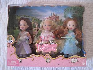 Barbie-Kelly-Rapunzel-034-s-Wedding-Flower-Girls-Dolls-New-In-The-Box