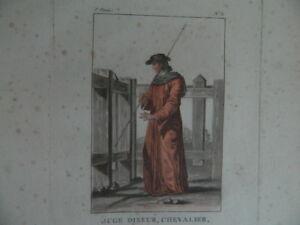 Gravur Farbig Kostüm Richter Wahrsager, Ritter Janinet XVIII 1788