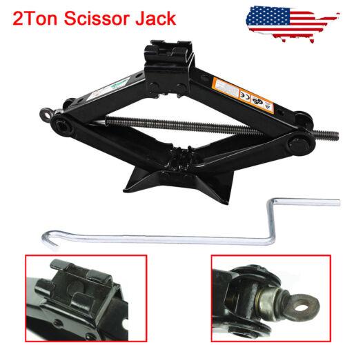 Car Emergency 2T Ton Scissor Wind Up Jack Lift For Car Van Speed Fix Repair Tool